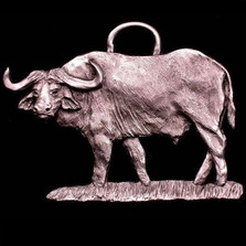 Cape Buffalo Pewter Ornament | Andy Schumann | SCHMC122118