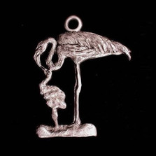 Flamingo Pewter Ornament | Andy Schumann | SCHMC122120