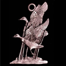 Mallards Pewter Ornament | Andy Schumann | SCHMC122121