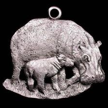 Hippo Pewter Ornament | Andy Schumann | SCHMC122122
