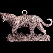 Leopard Pewter Ornament | Andy Schumann | SCHMC122123