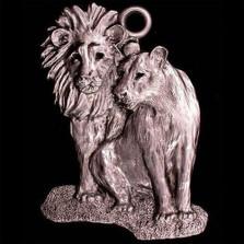 Lion Pair Pewter Ornament | Andy Schumann | SCHMC122124