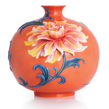 Exotic Peony Porcelain Vase | FZ02753 | Franz Porcelain Collection