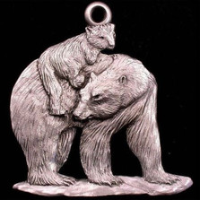 Polar Bear with Cub Pewter Ornament | Andy Schumann | SCHMC122126