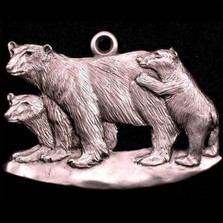 Polar Bear Pewter Ornament | Andy Schumann | SCHMC122127