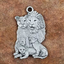 Lion Family Pewter Ornament | Andy Schumann | SCHMC122129