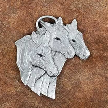 Zebra Trio Pewter Ornament | Andy Schumann | SCHMC122131
