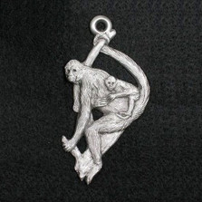 Spider Monkey Pewter Ornament | Andy Schumann | SCHMC122132