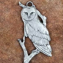 Owl Pewter Ornament | Andy Schumann | SCHMC122134
