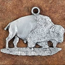Bison Pewter Ornament | Andy Schumann | SCHMC122135