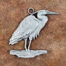 Heron Pewter Ornament | Andy Schumann | SCHMC122136