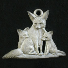 Fennec Fox Pewter Ornament | Andy Schumann | SCHMC122139