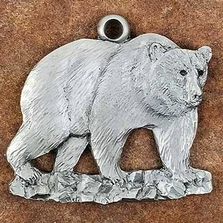 Grizzly Bear Pewter Ornament | Andy Schumann | SCHMC122141