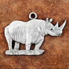 Rhino Pewter Ornament | Andy Schumann | SCHMC122148