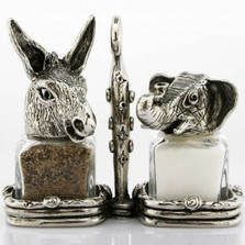 Donkey Elephant Salt Pepper Shakers Election Year | Silvie Goldmark | SGM110