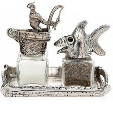 Fish Fisherman Salt Pepper Shakers | Silvie Goldmark | SGM111