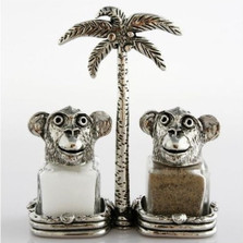 Monkey Salt Pepper Shakers | Silvie Goldmark | sgm117