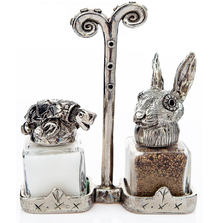 Tortoise Hare Salt Pepper Shakers   Silvie Goldmark   SGM133