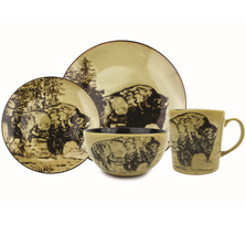 Bison Dinnerware 16 Piece Set | Unison Gifts | UGITCDBISON