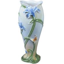 Iris & Butterfly Porcelain Vase | Unicorn Studios | USIAP20290AA