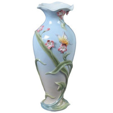 Freesia & Butterfly Porcelain Vase | Unicorn Studios | USIAP20291AA