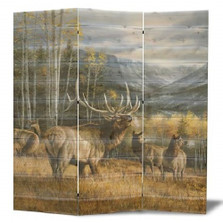 "Elk Cedar Room Divider ""Meadow Music"" 