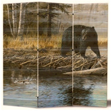 "Bear Cedar Room Divider ""Streamside"" 