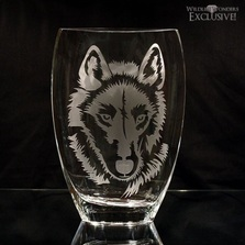 Wolf Art Glass Vase | WOM-E601