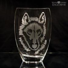 Wolf Art Glass Vase | WOM-E601