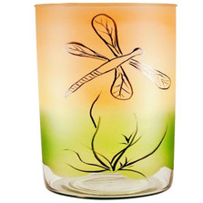 Dragonfly Art Glass Vase | WOM-GD009082