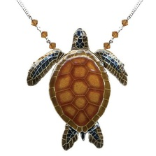 Green Sea Turtle Large Necklace | Bamboo Jewelry | BJ0178LN