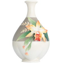 Magnificent Cattleya Orchid Mid Size Vase | FZ02880 | Franz Porcelain Collection