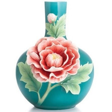 Peony Mid Size Vase | FZ02892 | Franz Porcelain Collection -2