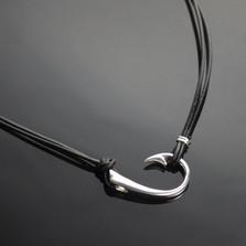 The Ollie Sideways Hook Necklace | Anisa Stewart Jewelry | ASJ2-1p1017-S18