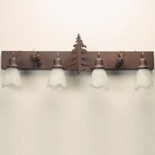 Pine Tree Vanity Light | Colorado Dallas | CDBL36GS0113D01