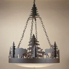 Bear & Moose Frontiersman Chandelier | Colorado Dallas | CDC301012