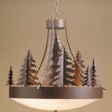 Pine Tree Woodland Chandelier | Colorado Dallas | CDCD22