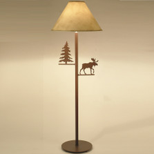 Moose & Pine Tree Floor Lamp | Colorado Dallas | CDFL1013SH2158