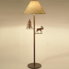 Moose & Pine Tree Floor Lamp | Colorado Dallas | CDFL1013SH2158