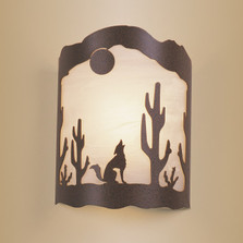 Coyote & Cactus Wall Sconce | Colorado Dallas | CDSC50DIR