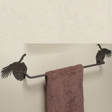 Pinecone Silhouette Towel Bar | Colorado Dallas | CDTB02-24