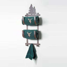 Pine Tree Double Towel Holder | Colorado Dallas | CDTBR-93