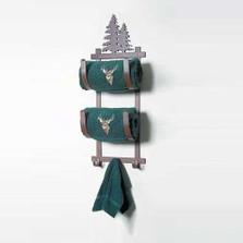 Pine Tree Double Towel Holder | Colorado Dallas | CDTBR-93