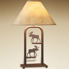 Moose Fortress Table Lamp | Colorado Dallas | CDTLF10SH2158