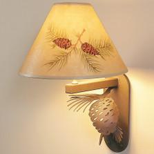 Pinecone Wall Lamp-Hand Painted Shade | Colorado Dallas | CDWL0202SH2150HP02