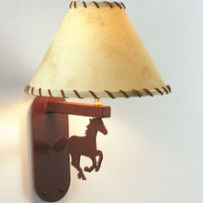 Horse Running Wall Lamp | Colorado Dallas | CDWL35SH2150L