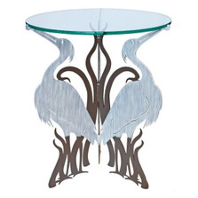 Heron Glass Top Table | Cricket Forge | CF033