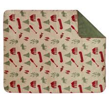 Moose Camp Microplush Throw Blanket   Denali   DHC16106872-sage