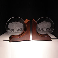 Buffalo Crystal Bookends | Evergreen Crystal | EGBUFBOOK-ROSE