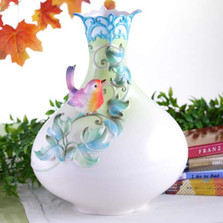 The Secret Garden Robin Vase | FZ02959 | Franz Porcelain Collection -2